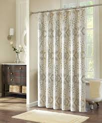 pattern extra long shower curtain liner with wood drawers and wooden floor plus wall lamp also