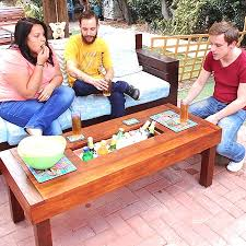 diy outdoor table with cooler. Outdoor Table With Ice Cooler Box, Diy, How To, Furniture, Rustic Diy