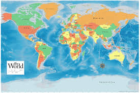 World Map Posters Promaps Official 2019 World Map Classroom Reference Poster 12x18 Inch