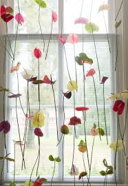 Window Decoration Original Window Decoration Anthurium Flower Curtains Bloomifique