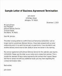 Letter Of Agreement Examples Elegant 7 Sample Termination Of
