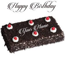 Black Forest Birthday Cake With Name