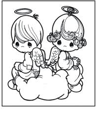 free printable precious moments coloring pages for kids and angel