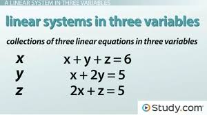 solving the linear system math how to solve a linear system in three variables with a