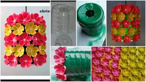 how to make fl chandelier from plastic bottle