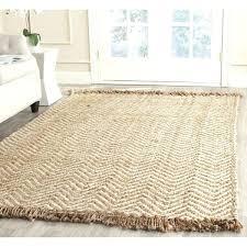 natural fiber hand woven chevron off white brown jute rug square 8