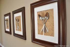 diy silverware wall art kitchen wall decor diy