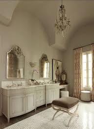 bathrooms upholstered vanity stool in elegant bathroom