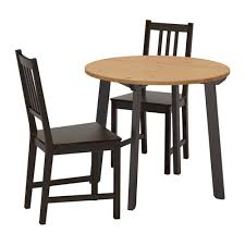 table 2 chairs. ikea stefan/gamlared table and 2 chairs
