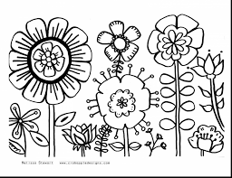 Flower Coloring Pages For Kids To Print With Appealing Fabulous