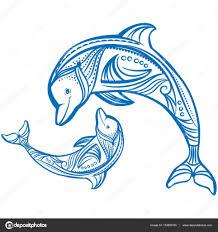 дельфин эскиз два дельфинов эскиз украшенные голубой дельфин