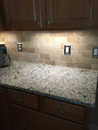 Granite Kitchen Tiles 3 X 6 Baja Cream Travertine Subway Tile Tumbled Kitchen Ideas