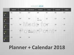 Powerpoint Calendar Template Delectable Planner Calendar Editable PowerPoint Template