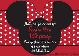 Pink And Black Minnie Mouse Decorations Diy Minnie Mouse Red Printable Birthday Party Invitation Pink