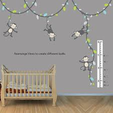 Monkey Growth Chart Wall Boys Monkey Growth Chart Wall Decal Height Chart For Wall