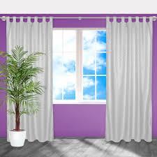 2x Blickdichter Vorhang Gardine Mit Schlaufen Schlaufenschal