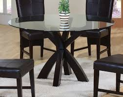 Glass Kitchen Tables Round Cool Black Round Kitchen Table With Chairs And Small Rug 3464