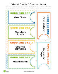 good deed coupon book printables mommy 101 good deed coupon printables teach your kids to serve others these fun coupons