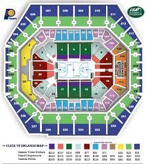 Pacers Game Seating Chart Bankers Life Fieldhouse Online Charts Collection
