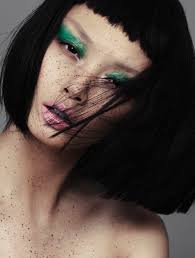 models makeup cosmetics eyebrows eyeshadow bangs m a c cosmetics asian models portrait photography alex evans hair and
