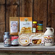 family basket with vt maple syrup