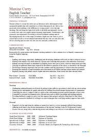 Sample Resume For Teachers Job Free Resume Template For Teaching Position Cv Teachers Job