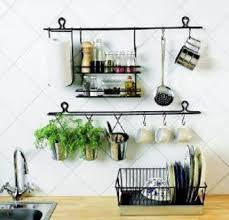 kitchen wall oraganizer | European style iron Creative kitchen storage rack  Hanging wall wine .