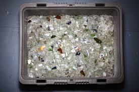 glass tile can be made with recycled bottle glass or other types of post consumer