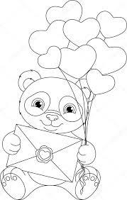 Panda Kleurplaat Stockvector Malyaka 103576178