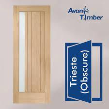 oak m t double glazed external door
