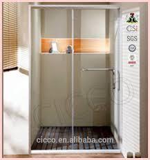 sliding shower door roller in shower doors with safety glass