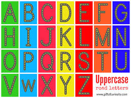 free printable alphabet. Exellent Printable Free Printable Road Letters Use Your Childu0027s Love Of Cards To Encourage  Him Or Her On Printable Alphabet