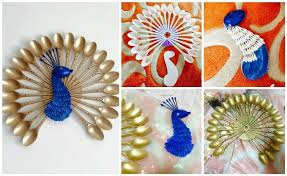 Small Picture how to make peacock wall hanging easy craft ideas premier