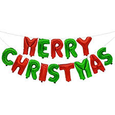 Amazon Com Amosfun Merry Christmas Banner Christmas Foil