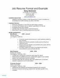 Example Of Resumes For Jobs Sample Job Resume Valid Post Job Resume Examples Resumes For Jobs