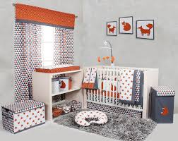 home nursery decor and accessories crib bedding sets bacati playful fox orange grey 10 pc crib set including per pad