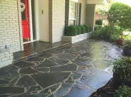 silvermist flagstone patio after being