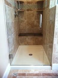 custom shower base with tile