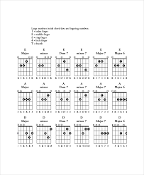 Guitar Bar Chords Chart Template 5 Free Pdf Documents