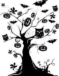 halloween tree transparent clipart