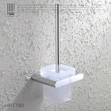 frosted glass bathroom accessories. BULUXE Brass Toilet Brush Holder Frosted Glass Cup Bathroom Accessories Brosse WC Set HP7740-in Holders From Home Improvement On