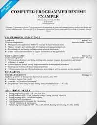 simple resumes examples programmer resume example 74 images free professional