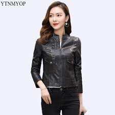 ytnmyop brands slim fashion women leather jacket short office lady short leather clothing plus size 5xl suede outerwear coats uk 2019 from cupidcloth