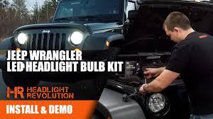 Led Lights For 2013 Jeep Wrangler 07 17 Jeep Wrangler Led Headlight Bulb Kit By Gtr Lighting Plug And Play No Flicker