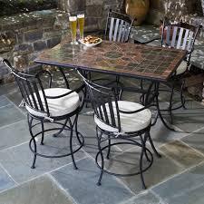 collection in counter height patio set backyard decor plan 5 piece macchiato marble mosaic counter height patio set from alfresco
