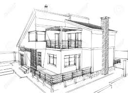 architecture houses sketch. Line Hatching Pencil Conceptual Sketch Creating Depth Within A Residential Space. Architecture Houses U