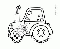 Small Picture Cute Tractor coloring page for toddlers transportation coloring