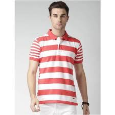 cotton large and xl men s red white striped t shirts