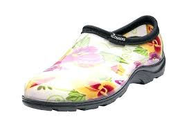garden clogs womens. Womens Garden Shoes Rain Shoe Cream Pansy Includes Free Half Sizer Insoles Clogs .
