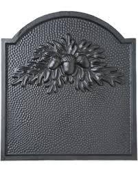 cast iron fireback. Cast Iron Fireback With Oak Leaf Design